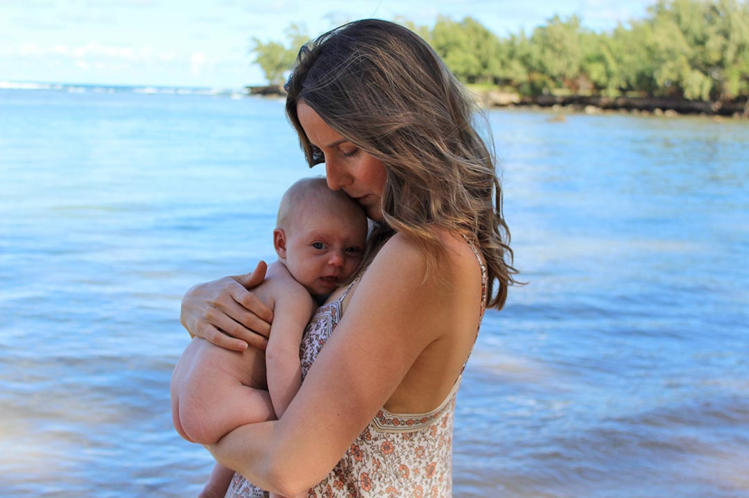 Dr. Heather Sandison and her baby